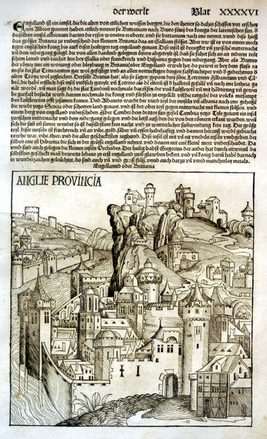 Anglie Provincia. H.Schedel, 1493