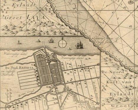 Fragmento Plano de Batavia. Van Keulen, 1753