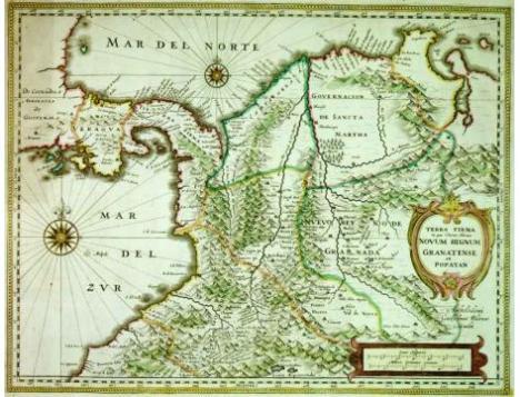 Tierra Firme. Blaeu, siglo XVII