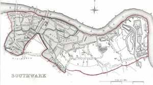 Map of Southwark, Siglo XIX