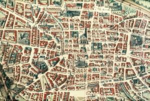 Mapa de Bologna. Siglo XVII
