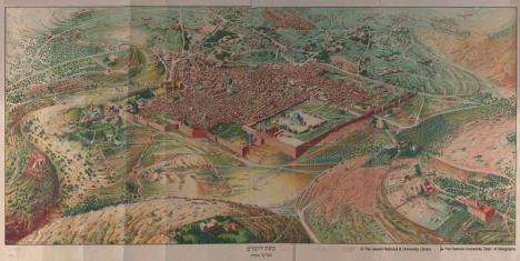 Jerusalem Map, 1929