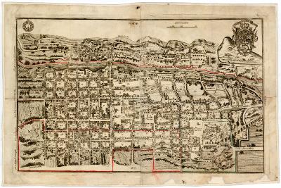 Plano de la ciudad de Santiago de Querétaro, 1656