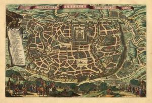 Plano de Jerusalén. Nicolás Visscher, 1660