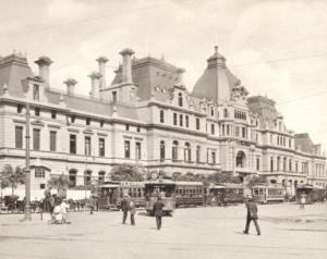 Estación Constitución. Buenos Aires, principios del siglo XX.