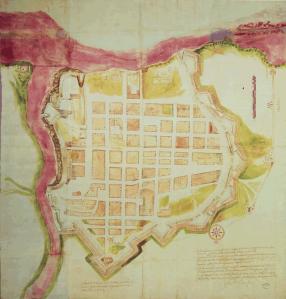 Plano de la ciudad de Santo Domingo. AGI, SantoDomingo, 22