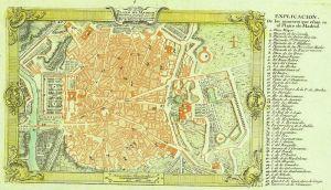 Plano de Madrid, 1762