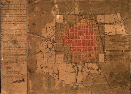 Plano iconográfico de la Ciudad de México, 1794.