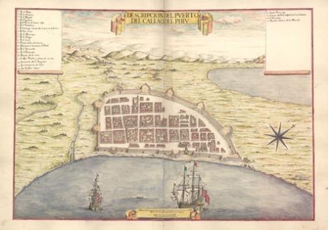 Puerto del Callao. Leonardo de Ferrari, mediados del siglo XVII.