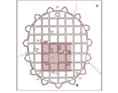 Transcripción Plano de Trujillo. Joseph Fermento, 1687