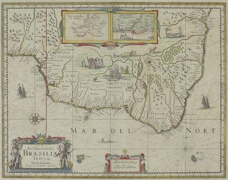 Mapa de Brasil, siglo XVII. BNB