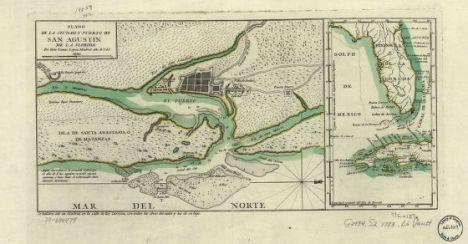 Plano de la ciudad y puerto de San Agustin de la Florida. Thomás López, 1783