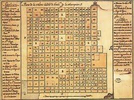 Plano de la Nueva Ciudad de Guatemala de la Asunción. Marcos Ibáñez, 1787