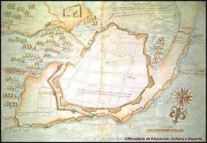 Ciudad de Cartagena de Indias y sus fortificaciones. AGI, MP, Panamá, 10