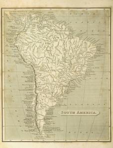 South America. PELHAM, Cavendish, 1808